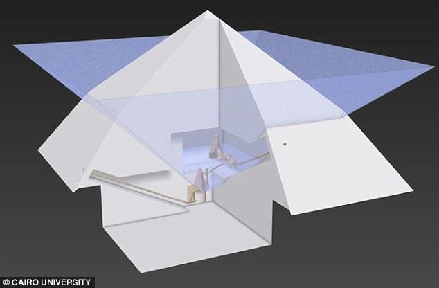 Lần đầu tiên, hình ảnh 3D về cấu trúc bên trong kim tự tháp được tiết lộ - Ảnh 2.