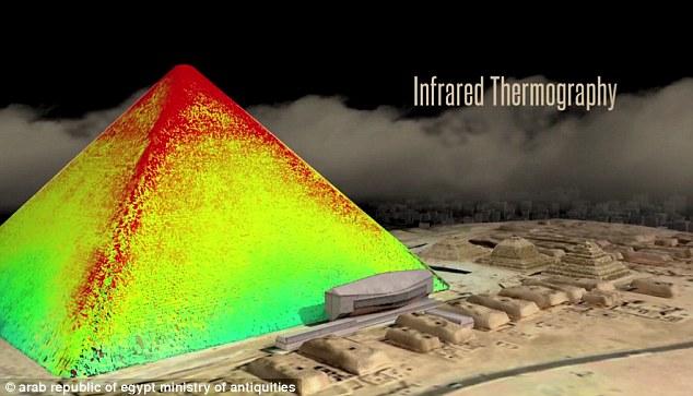 Lần đầu tiên, hình ảnh 3D về cấu trúc bên trong kim tự tháp được tiết lộ - Ảnh 1.