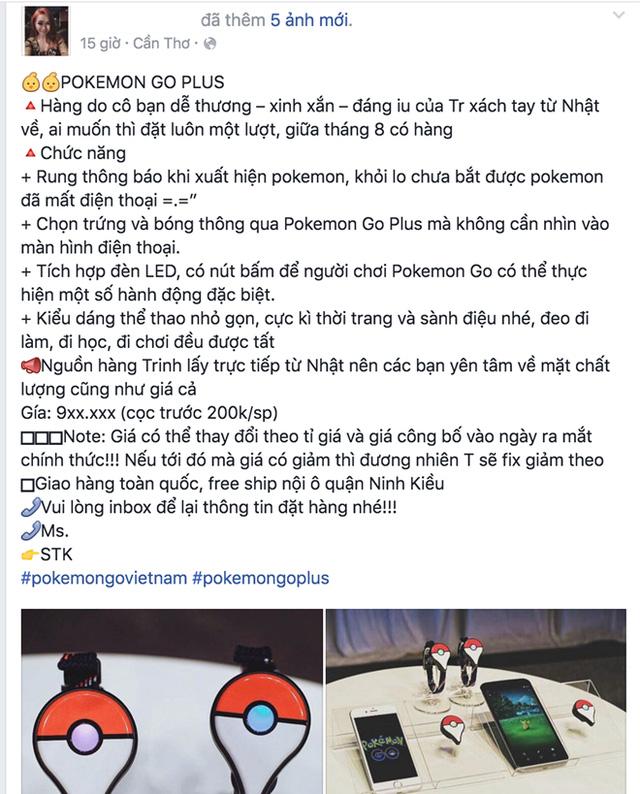 Pokemon Go Plus rao bán ở Việt Nam, giá từ 900.000 đồng - Ảnh 1.