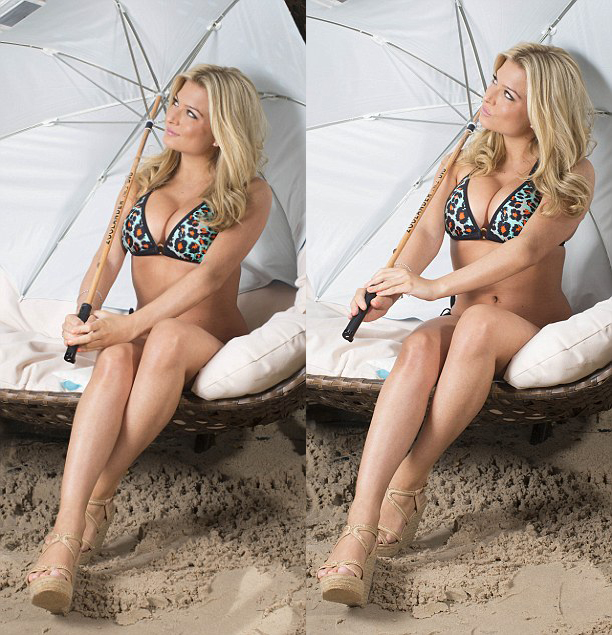 Hoa hậu Anh sex trên truyền hình khoe eo ngấn mỡ trong bộ ảnh bikini - Ảnh 2.