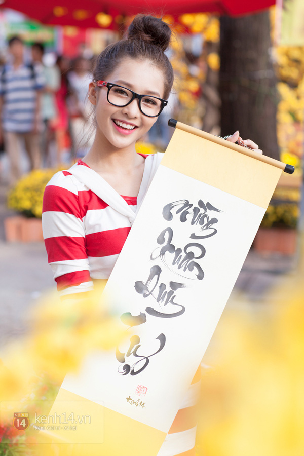 An Japan, Khả Ngân dạo phố đầu xuân, xin chữ ông đồ 24
