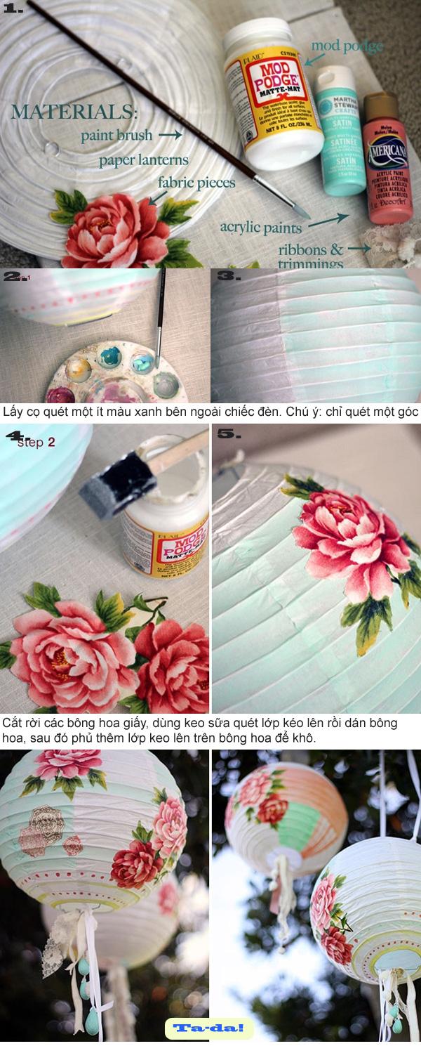 3 cách đơn giản biến hóa lồng đèn giấy xinh 2