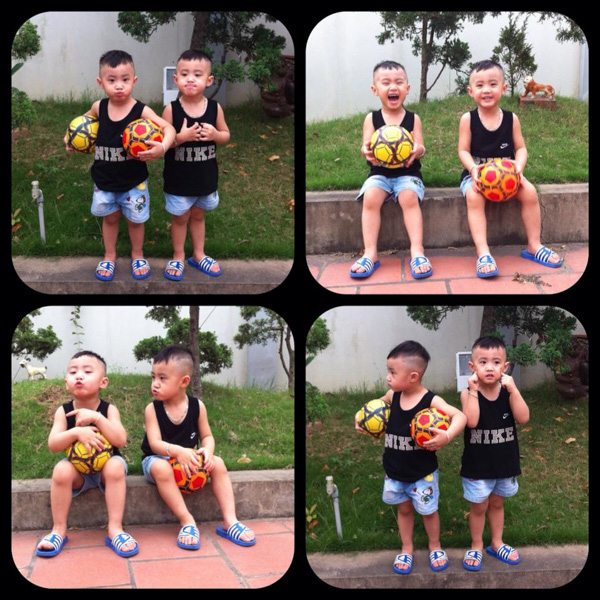 Minh Vương (M4U) khoe 2 con trai nuôi song sinh 12
