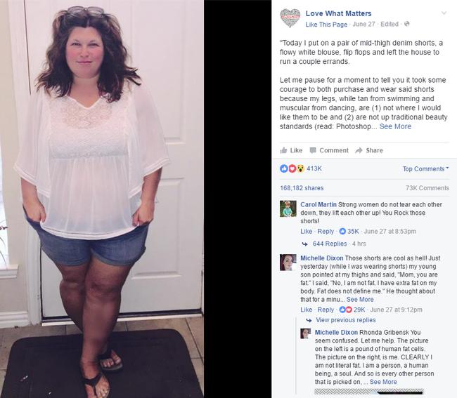 Bị chê quá béo để mặc quần shorts, cô nàng này đã có lời đáp trả vô cùng ý nghĩa - Ảnh 2.