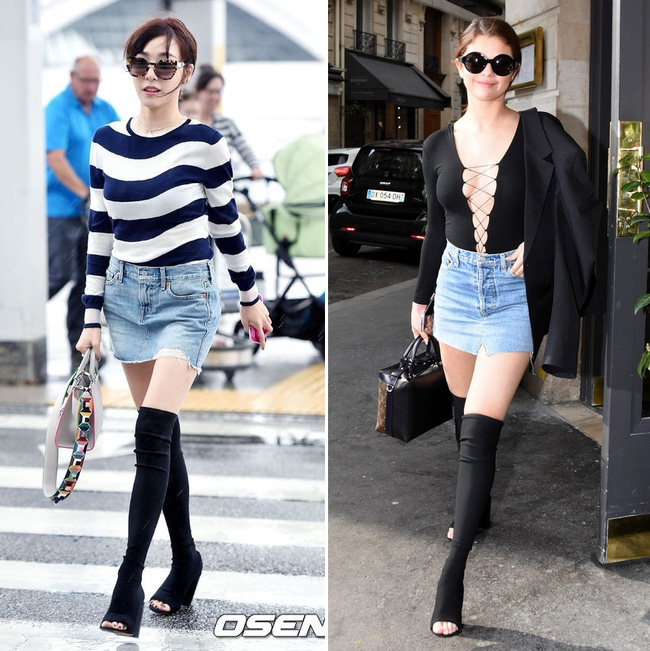 Diện lại boots của Selena Gomez, Tiffany lộ chân gầy tong teo - Ảnh 5.