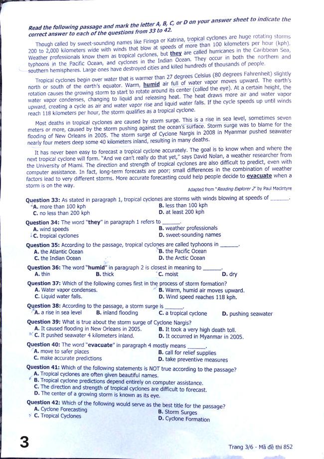 Cập nhật: Đáp án môn tiếng Anh kỳ thi THPT Quốc gia - Ảnh 5.