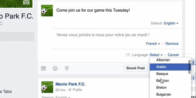 Sắp có tính năng đăng status lên Facebook bằng đủ thứ tiếng - Ảnh 1.