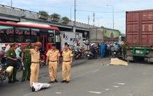 Cô gái chết thảm dưới bánh xe container ở Sài Gòn