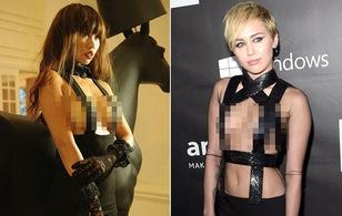 """Hà Anh mặc váy bạo """"na ná"""" Miley Cyrus, chẳng còn gì để che!"""