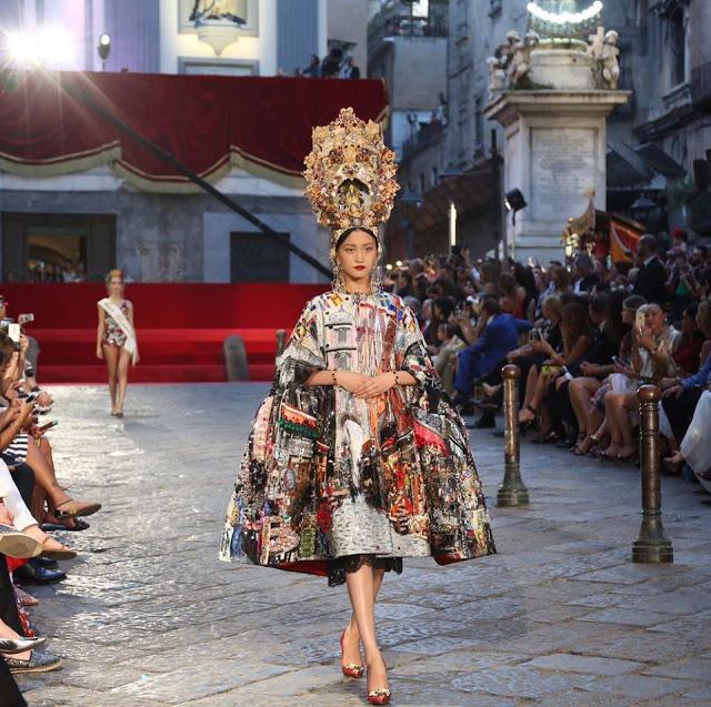 Dolce&Gabbana tổ chức lễ hội, cho đăng quang luôn Hoa hậu trên sàn diễn - Ảnh 4.
